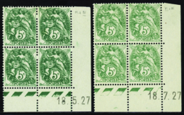 N° 111 5c Blanc 18-7-27 Les 2 Galvanos     Qualité:* Cote: 50 - 1900-29 Blanc