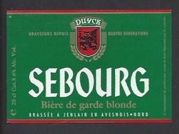 Etiquette De  Bière Blonde  -  Sebourg  -  Brasserie Duyck  à Jenlain  (59) - Beer