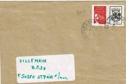 TP N° 3417 Seul Sur Enveloppe De Avranches, Avec Vignette Personnalisée - 1961-....