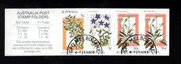 909023422 1986  SCOTT 996A  FIRST DAY CANCEL -  BOOKLET PANE ALPINE WILDFLOWERS - 1980-89 Elizabeth II