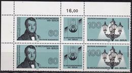 """BRD, 1991 2x Nr. 1537-1538 **,   Zusammendruck-Block Mit Eckrand Oben Links, """"Weltgaskongress"""" - [7] République Fédérale"""