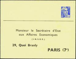 N° 886 E1 (N2e) 15f M De Gandon INSEE          Cote: 300 - Entiers Postaux