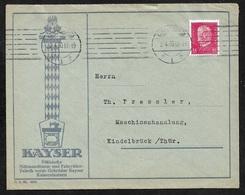 1930 Dt.Reich - EF 15Pf Mi. 414 - ILLUSTRIERTER WERBEUMSCHLAG - KAYSER NÄHMASCHINEN U. FAHRRÄDER - Deutschland
