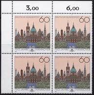 "BRD, 1991 Nr. 1491 **,  Viererblock Mit Eckrand Oben Links, ""Hannover"" - Nuovi"