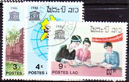 Laos - 40 Jahre UNESCO  (MiNr:962/4) 1986 - Gest Used Obl - Laos