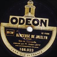 78 T - 25 Cm.- état B -  André LEVY Solo De Violoncelle - BERCEUSE DE JOCELYN - AVE MARIA - 78 T - Disques Pour Gramophone