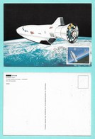 Portugal / Azoren  1991  Mi.Nr. 415 , EUROPA CEPT - Europäische Weltraumfahrt - Maximum Card - First Day  11.4.1991 - Europa-CEPT
