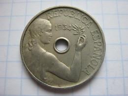 25 Centimos 1934 - [ 2] 1931-1939 : République