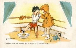 Illustrateur Jean Cheval - Dommage Que Les Marrons Que Tu Recois Ne Soient Pas Glacés - Boxe - Cheval