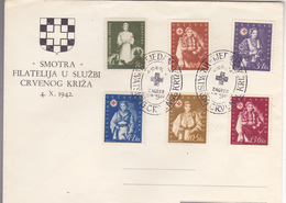 CROATIA   --  NDH   ---   FDC /   SMOTRA /  FILATELIJA U SLUZBI CRVENOG KRIZA  /  1942  //  RED CROSS - Kroatien