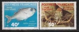 POLYNESIE - N° 352/3 ** (1990) Faune D'eau Douce - Polynésie Française