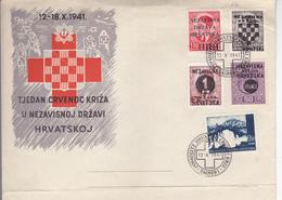 CROATIA   --  NDH   ---   FDC /   TJEDAN CRVENOG KRIZA U NEZAVISNOJ DRZAVI HRVATSKOJ /  1941  //  RED CROSS - Kroatien