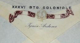 GONDAR 7 - 4 - 1939 RARA  E PREGIATA  LETTERA  CON LO STEMMA DEL XXXVI . Mo  BATTAGLIONE  COLONIALE - Africa Orientale Italiana