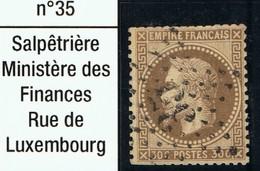 N°30 Etoile 35, Timbre Coupé, Mais Belle Frappe - 1863-1870 Napoléon III Lauré