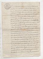 Savoie La Côte-d'Aime Montvalezan Sur Bellentre 1822 - Manuscripts