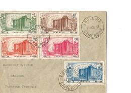 Cameroun TB Lettre Avec Serie Complète 150ème Anniversaire De La Révolution Française (YT 192 à 196) - Cameroun (1915-1959)