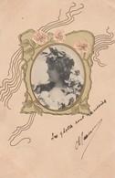Superbe Carte Gaufrée.  Portrait De Femme Dans Un Médaillon - Femmes