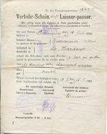 Ardennes.1916.VERKEHR-SCHEIN. Laisser-passer.ROCQUIGNY,LA HARDOYE,CHAUMONT - 1914-18