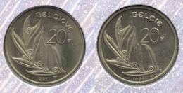 20 Frank 1991 Frans+vlaams * F D C Uit Muntenset * - 1951-1993: Baudouin I