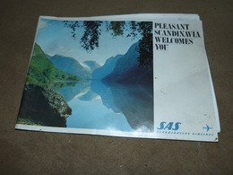 Revue Commerciale SAS Scandinavian AIrlines 1961 Tourisme Carte Des Vols - Non Classés