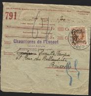COLIS POSTAUX - CF168 Obl. DENDERMONDE TERMONDE Sur Récépissé 1929. Plis (x121) - 1923-1941