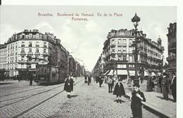 CP.Bruxelles-BRUXELLES (ex-Collection DELOOSE) - Boulevard Du HAINAUT Vu De La Place FONTAINAS + TRAM 49 - W0468 - Brüssel (Stadt)