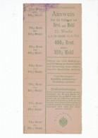 Alte Papiere Lebensmittel-Ausweis Für Brot Und Mehl - Lebensmittel