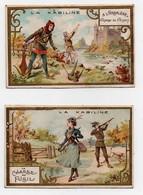 CHROMO La Kabiline Laas Pécaud La Chasse Au Fusil A L'arbalète (chasse Au Faisan) (2 Chromos) - Other