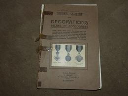 Recueil Des Décorations Belges Et Congolaises 1946 Médaille - Non Classés