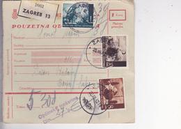 CROATIA --  NDH   --  PARCEL CARD  --  WITH TAX  STAMPS --   ZAGREB Nach BANJA LUKA, BOSNIEN  --  1942 - Kroatien