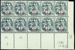 N° 157 Bloc De 10  1ex Type IA  9ex Type IB        Qualité:** - 1900-29 Blanc