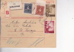 CROATIA --  NDH   --  PARCEL CARD  --  WITH TAX  STAMPS --   BJELOVAR Nach  DESNO SREDICKO, LASINJA, PISAROVINA --  1943 - Kroatien