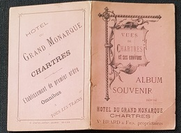 CHARTRES - Recueil De 5 Vues Illustrées - - Edition Hotel Du GD MONARQUE ... (Format 8x12.5) - Chartres