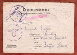 Kriegsgefangenenpost, Faltbrief, Stalag VA, Nach Chambery 1941 (89210) - Briefe U. Dokumente