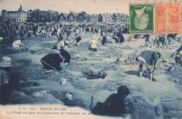62 Berck Plage La Plage Un Jour De Concours De Travaux En Sable Cachet 1924 - Berck
