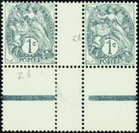 N° 107 Types IA Et IB Se Tenant En Paire Interpanneau    Qualité:** - 1900-29 Blanc