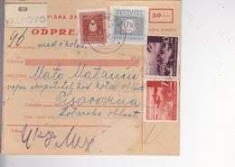 CROATIA --  NDH   --  PARCEL CARD  --  VALPOVO Nach PISAROVINA  ( MATO MATANCIC, VOJNI IZVJESTITELJ KOD KOTARSK --  1943 - Kroatien