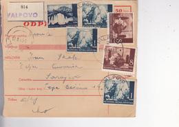 CROATIA --  NDH   --  PARCEL CARD  --  VALPOVO Nach SARAJEVO, BOSNIEN --  1943 - Kroatien