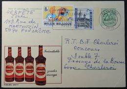 Entiers Postaux Publibel 2407F - Gancia, Apéritif, Alcool (Timbre Tintin) - Werbepostkarten