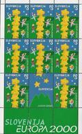 "ESLOVENIA/ SLOVENIA/ SLOWENIEN- EUROPA-CEPT 2000 -TEMA  "" EUROPA 2000 "".-  SHEET Of 8 + LABEL - MNH *** - 2000"