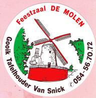 Sticker - Feestzaal DE MOLEN - Gooik Tafelhouder Van Snick - Stickers