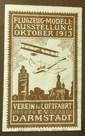 Werbemarke Cinderella Poster Stamp  Flugzeug Modell Darmstadt 1913   #1779 - Vignetten (Erinnophilie)