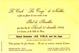 Nivelles  Bal Du Réveillon 1949 - Old Paper