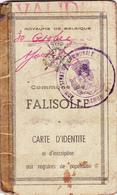 Falisolle  Ancienne Carte D'identité - Old Paper