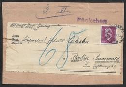 1931 Dt.Reich - EF Mi. 418 - PÄCKCHEN ADRESSE - BAMBERG N. BERLIN - Deutschland