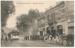 MAXEVILLE-NANCY (54) – Brasserie Michaut. Extérieur, Très Animé (tramway, Voiture). Editeur Gedovius, Nancy. - Maxeville