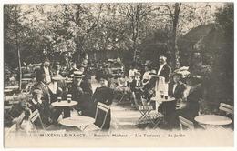MAXEVILLE-NANCY (54) – Brasserie Michaut. Les Terrasses. Le Jardin. Editeur Gedovius, Nancy. - Maxeville