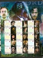 Harry Potter/Distribution & Actors., Feuillet Neuf ** De  26 X 20 Cm , From SINGAPORE. UNIQUE ! - Acteurs