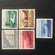 Schweiz Pro Patria 1955 Zumstein-Nr. 71-75 * Ungebraucht Mit Originalgummi Und Falz - Pro Patria