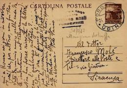 Intero C131 ; Pordenone 24-3-1947 Per Siracusa ; Ultimo Giorno Di Periodo Tariffario Postale - 6. 1946-.. Repubblica